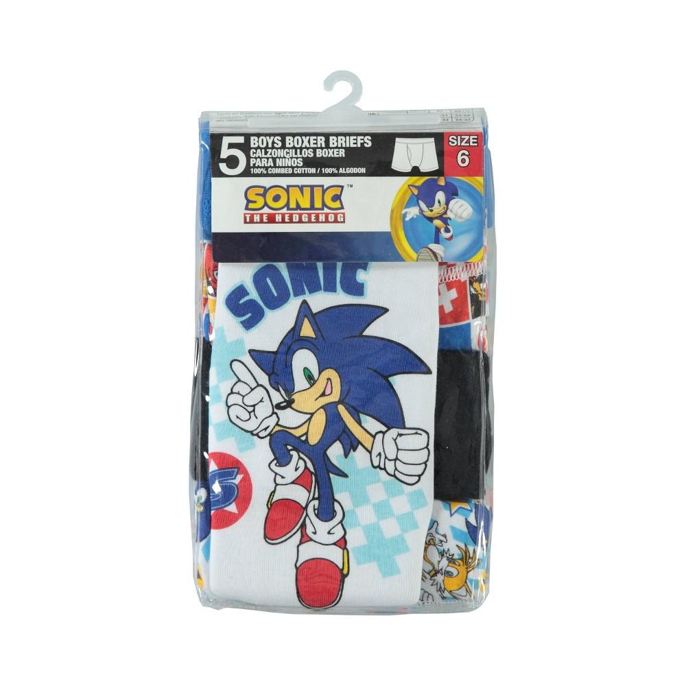 Image of Boys' Sonic the Hedgehog 5pk Boxer Briefs - 4, Boy's, MultiColored