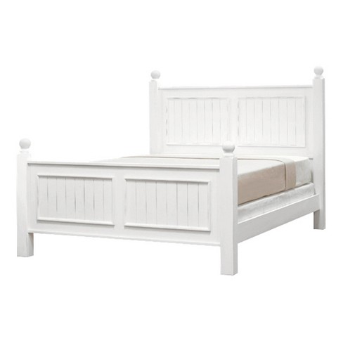 Notting Hill Collection Poster Bed - Queen - Bright White - John Boyd Designs - image 1 of 2