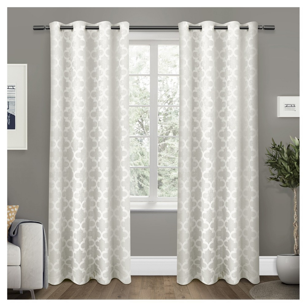 Cartago Insulated Woven Blackout Grommet Top Window Curtain Panel Pair Vanilla (White) (54x96) - Exclusive Home