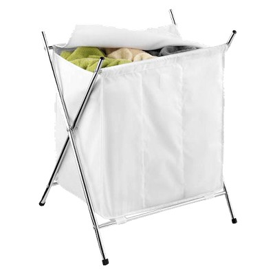 3-Compartment Folding Laundry Hamper