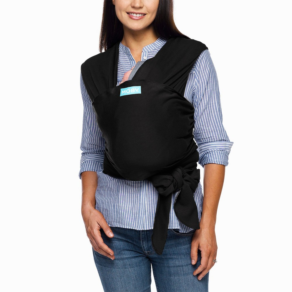 Image of Moby Evolution Wrap Baby Carrier - Black