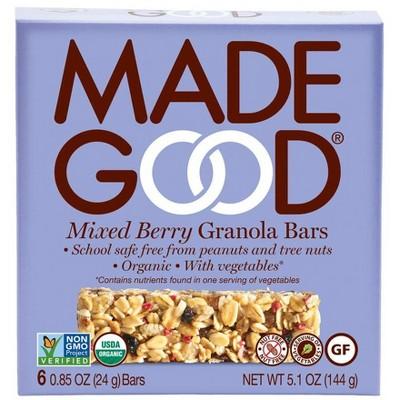 MadeGood Mixed Berry Granola Bars - 6ct
