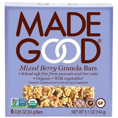 MadeGood Mixed Berry Granola Bars -6ct - image 1 of 3