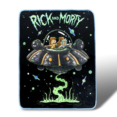 Franco Manufacturing Co Rick and Morty Fresh Start Fleece Throw Blanket 45 x 60 Inches