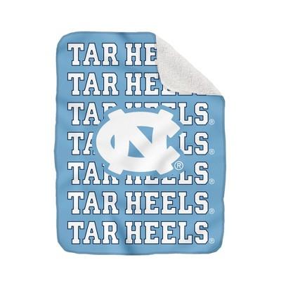 NCAA North Carolina Tar Heels Collegiate Echo Wordmark Plush Throw Blanket