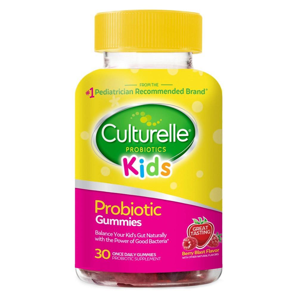 Culturelle Kids Daily Probiotic Prebiotic Gluten Free Gummy Berry 30ct