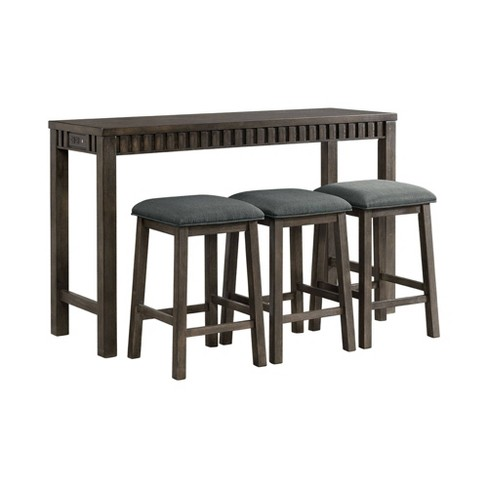 Montego Multipurpose Bar Table Set Java Brown - Picket House Furnishings - image 1 of 4