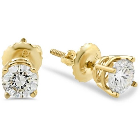 Pompeii3 1 2ct Diamond Studs Screw Back Earrings 14k Yellow Gold Target