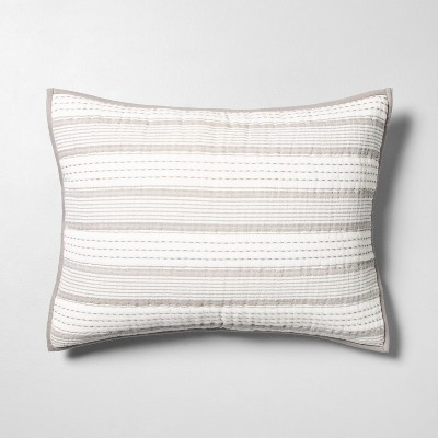 Pillow Sham Woven Stripe Jet Gray - Hearth & Hand™ with Magnolia