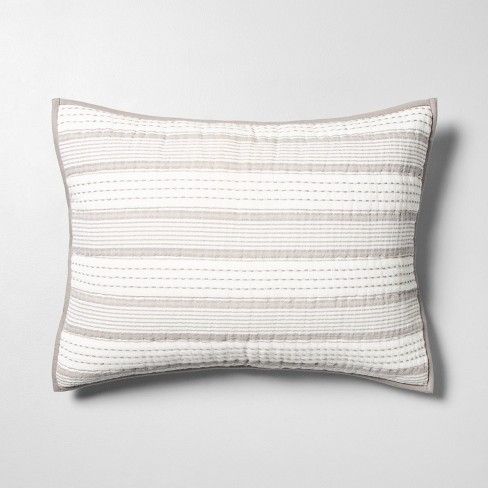 Woven Stripes Pillow Sham Jet Gray Hearth Hand With Magnolia Target
