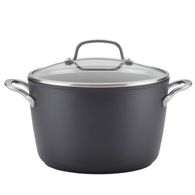 KitchenAid Hard-Anodized Induction 8qt Nonstick Stockpot with Lid