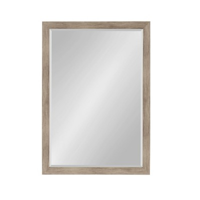 "27"" x 39"" Beatrice Framed Wall Mirror Rustic Brown - DesignOvation"