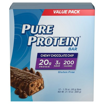 Pure Protein Bar - Chewy Chocolate Chip - 12pk