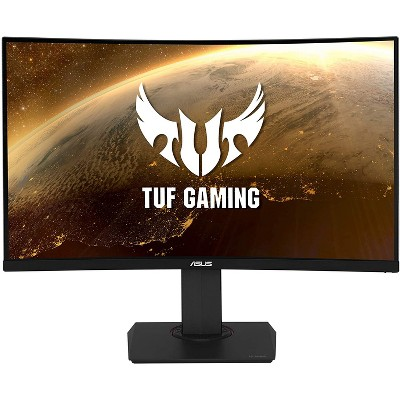 ASUS TUF Gaming VG32VQ 32 Inch Curved Gaming Monitor FreeSync HDR Elmb Sync 1440P 144Hz 1ms Eye Care with DP HDMI, Black