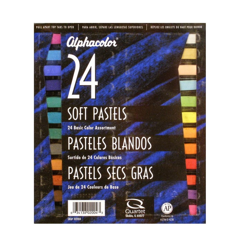Image of Soft Pastel Set Basic Colors - Alphacolor 24ct