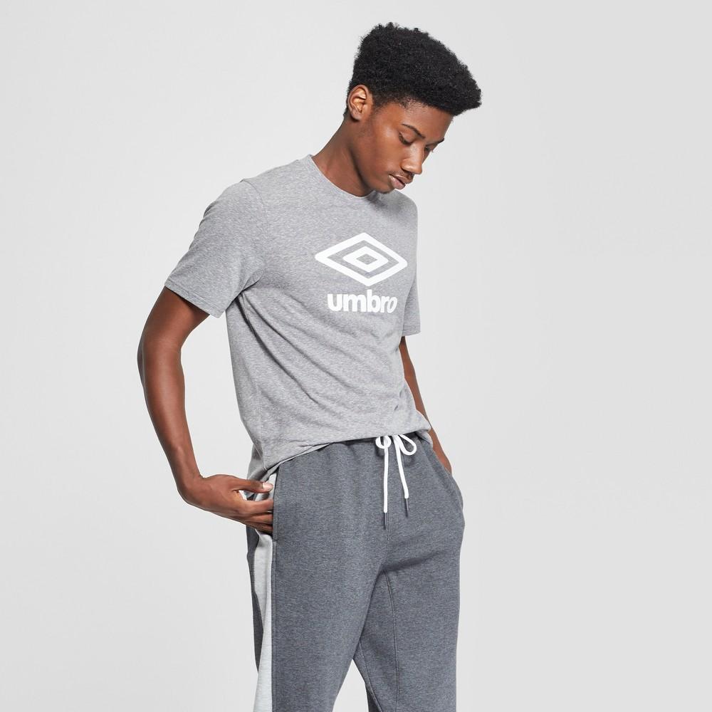 Umbro Men's Logo Graphic T-Shirt - Industrial Grey S