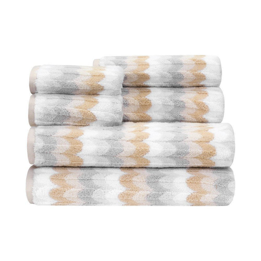 Image of 6pc Alicante Zero Twist Towel Set Beige - Caro Home