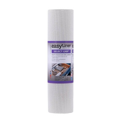 "Duck Select Grip EasyLiner Non Adhesive Shelf and Drawer Liner, 20"" x 24' White"