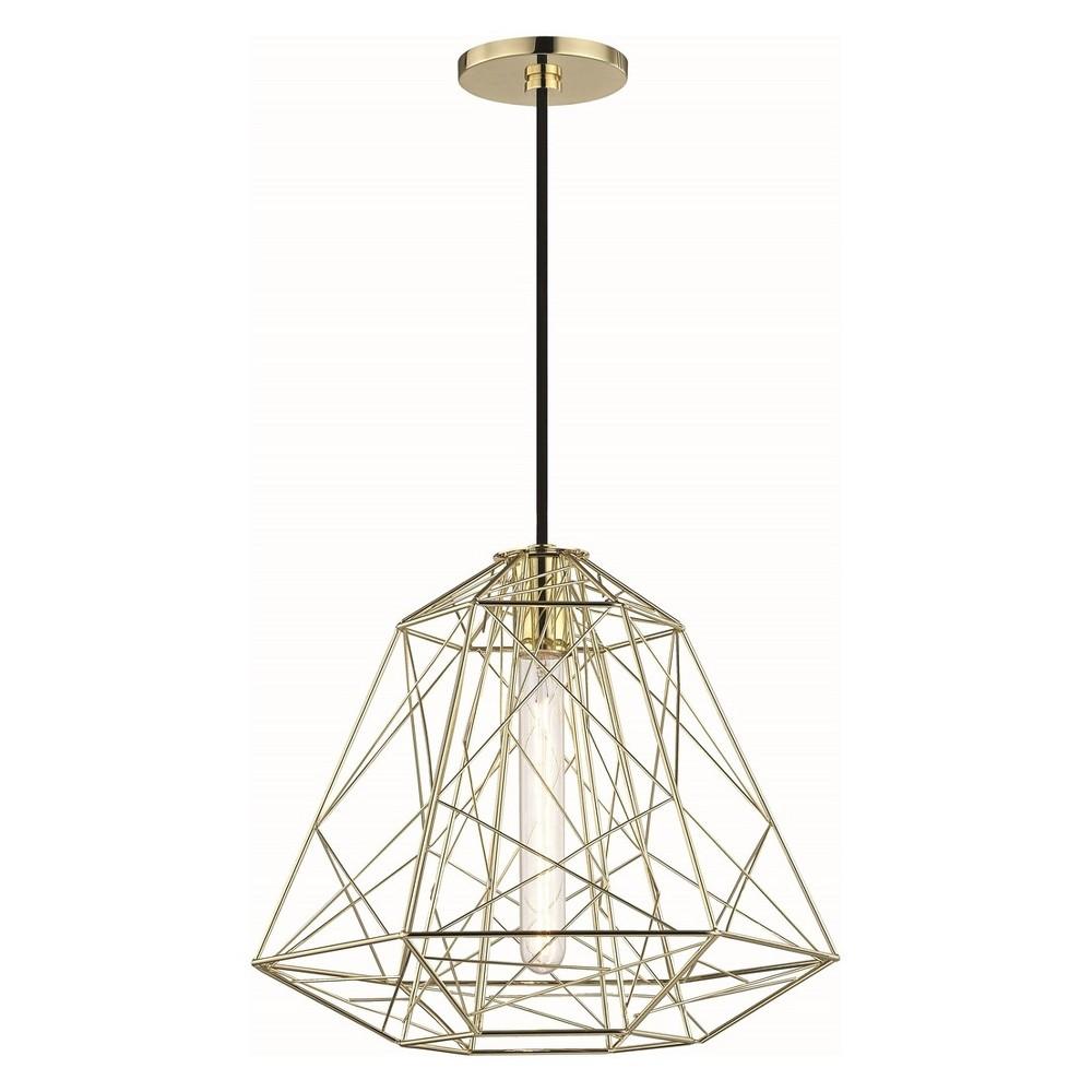 1pc Ani Light Pendant Brass - Mitzi by Hudson Valley