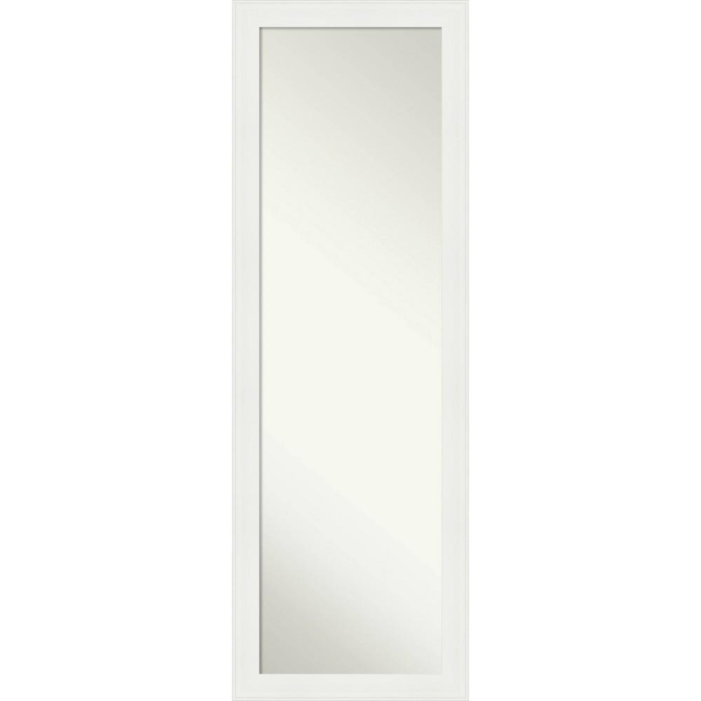 "Image of ""17"""" X 51"""" Narrow Framed On the Door Full length Mirror Vanity White - Amanti Art"""