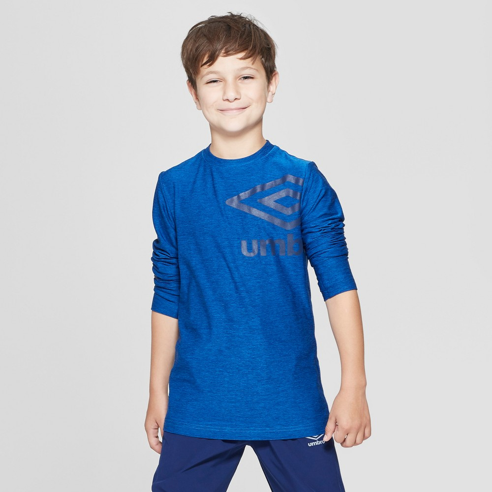 Umbro Boys' Long Sleeve Graphic T-Shirt - Electric Blue S