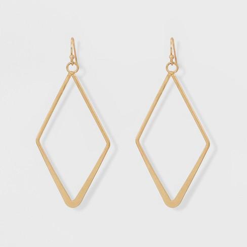 Open Work Diamond Shape Drop Earrings - Universal Thread™ - image 1 of 4
