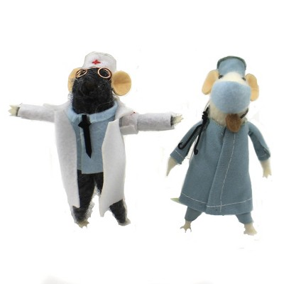 "Holiday Ornament 4.5"" Medical Mice Caretaker Hospital Christmas  -  Tree Ornaments"
