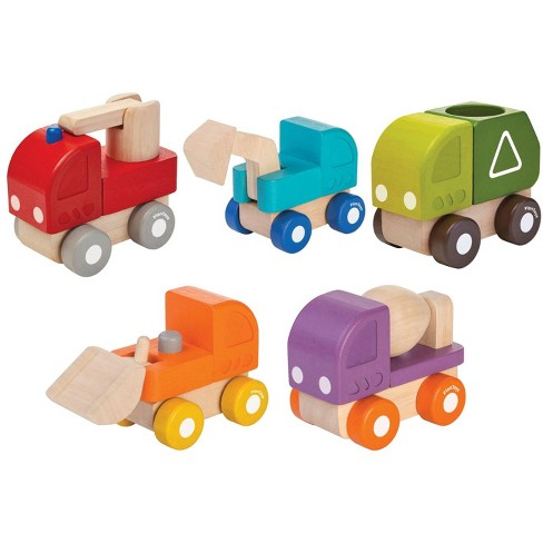 Plantoys Mini Wooden Vehicles, Assorted Colors and Types, set of 5 - image 1 of 6