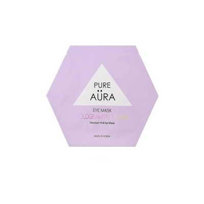 Pure Aura Hologram Foil Eye Mask - 0.88 fl oz