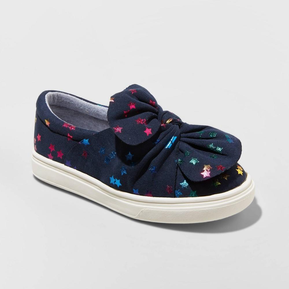 Toddler Girls' Mae Sneakers - Cat & Jack Navy (Blue) 8
