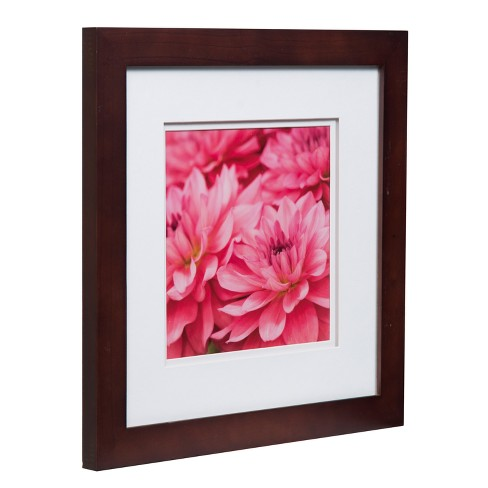 Single Image 12x12 Wide Walnut Frame With Double Mat To 8x8
