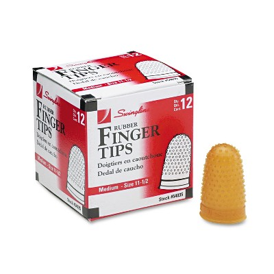 Swingline Rubber Finger Tips 11 1/2 (Medium) Amber Dozen 54035