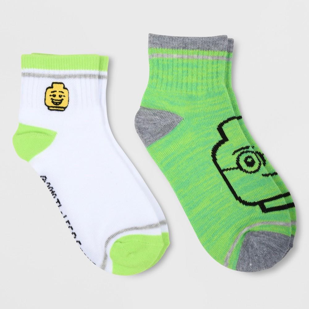 Kids' Lego 2pk Socks - Green S/M, Kids Unisex