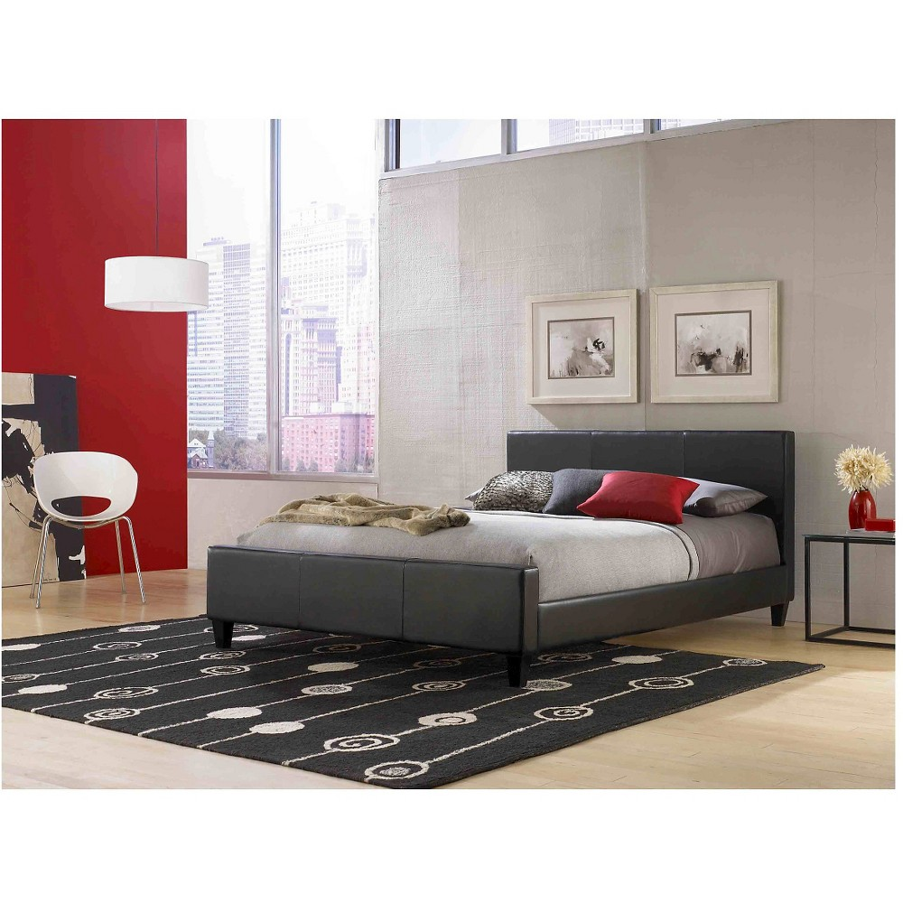 Euro Platform Bed Black (Queen) - Fashion Bed Group