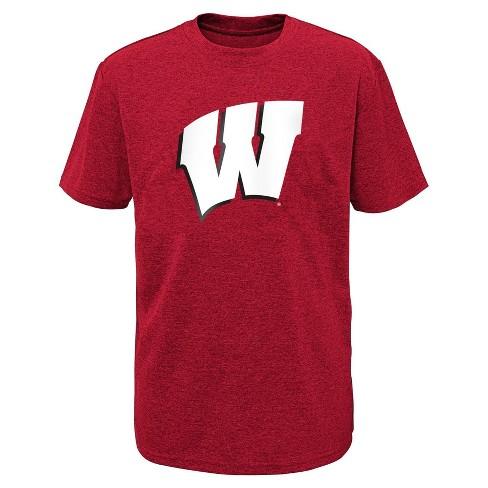 NCAA Wisconsin Badgers Boys' Short Sleeve Crew Neck T-Shirt - image 1 of 1