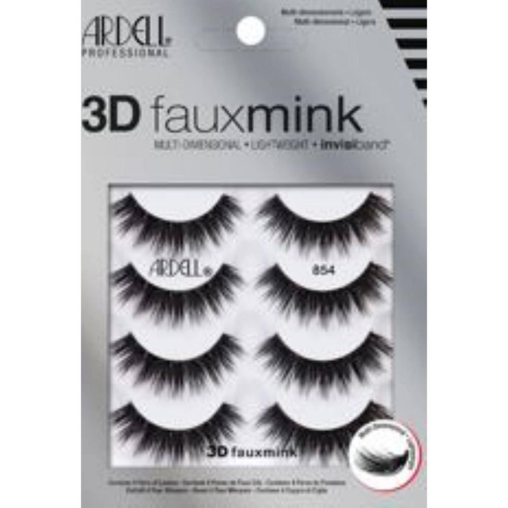 Ardell Faux Mink False Eyelashes 854 Lash Black 4pr