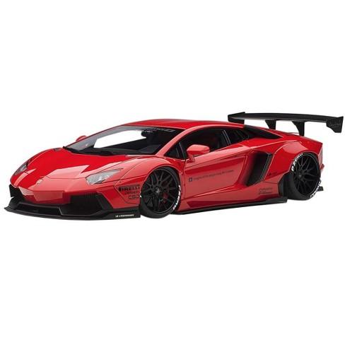 Lamborghini Aventador Lb Works Red With Black Wheels 1 18 Model Car