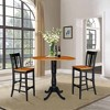 """41.5"""" Round Pedestal Bar Height Table with 2 Bar Height Stools Black/Cherry - International Concepts - image 4 of 4"""