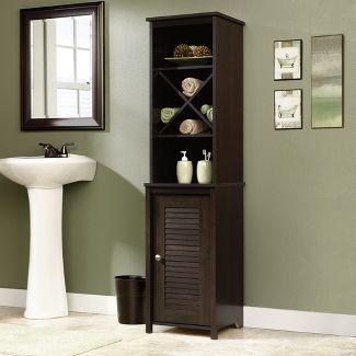 Decorative Storage Cabinets Espresso Brown - Sauder