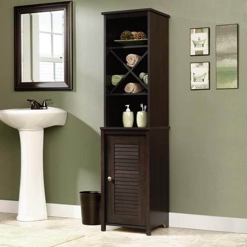 Decorative Storage Cabinets Espresso Brown Sauder Target