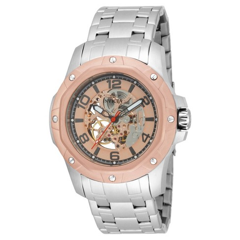 Men's Invicta 16128 Specialty Mechanical Multifunction Dial Link Watch - Silver/Rose Gold - image 1 of 1