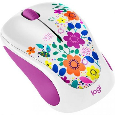 Logitech Design Collection Wireless Mouse - Optical - Wireless - Radio Frequency - 2.40 GHz - USB - 1000 dpi - 3 Button(s)