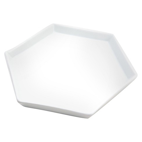 "Hand Made Modern Unfinished Ceramic Hexagonal Dish - 6"" x 6"" - image 1 of 1"