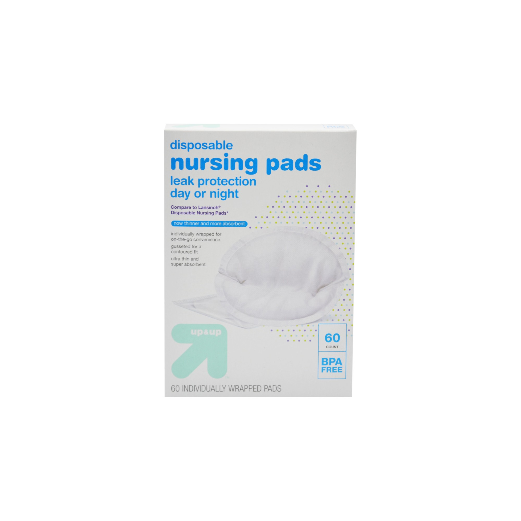 Disposable Breast Pads - 60ct - Up&Up , White