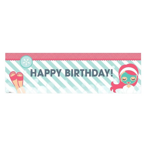 Little Spa Birthday Banner - Standard - image 1 of 1