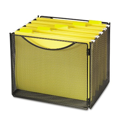 Safco Desktop File Storage Box Steel Mesh 12-1/2w x 11d x 10h 2170BL
