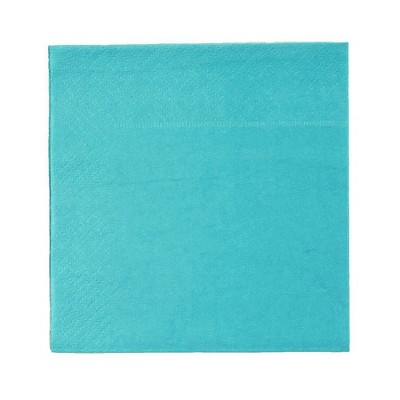 Blue Panda Cocktail Napkins - 200-Pack Disposable Paper Napkins, 2-Ply, Teal Green, 5 x 5 Inches Folded