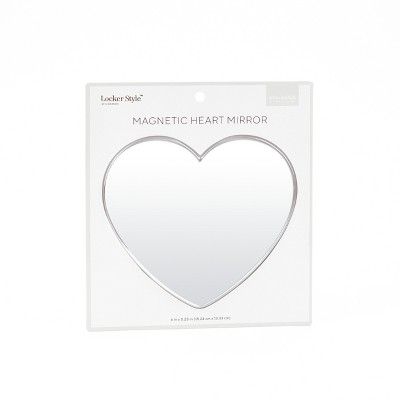 Heart Locker Mirror Silver Frame - Locker Style