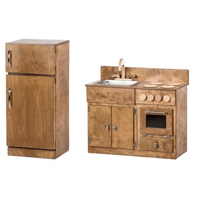 Remley Wooden Sink/Stove & Refrigerator Kitchen Playset CPSIA Kid Safe Finish - Ships Assembled