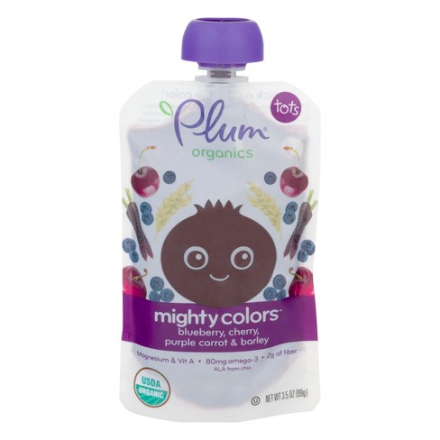 Plum Organics Mighty Colors, Purple - 3.5oz - image 1 of 5